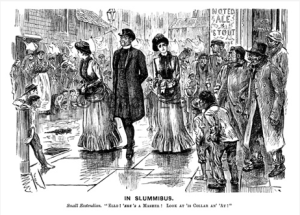 a cartoon illustrating slumming from Punch